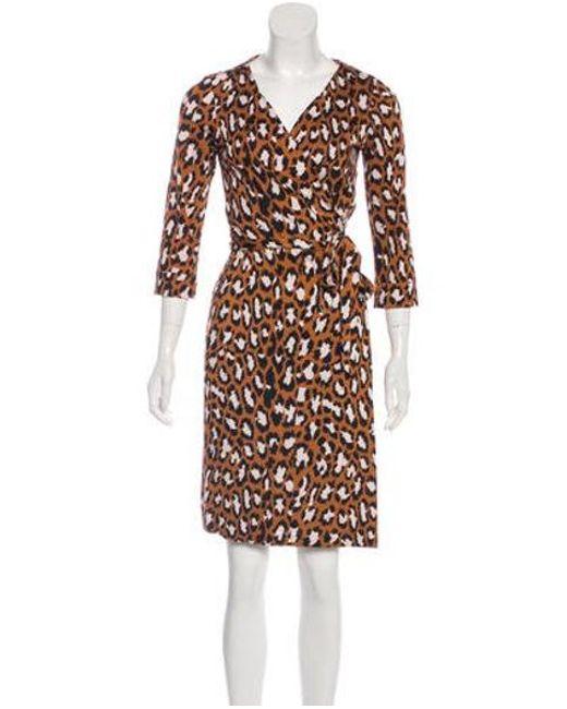 13ba577f861b Diane von Furstenberg - Black New Julian Silk Wrap Dress - Lyst ...