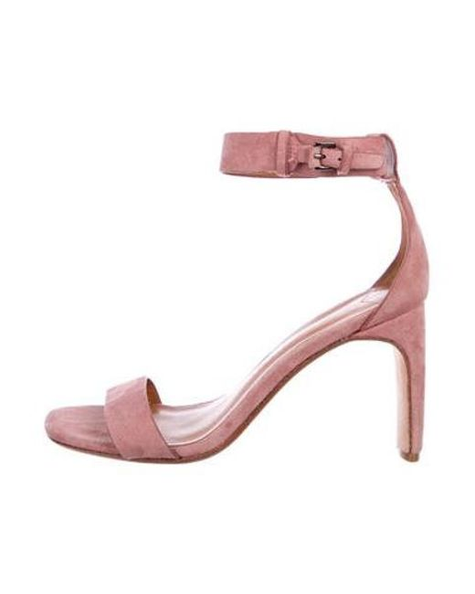 fdb99f283499ae 10 Crosby Derek Lam - Pink Suede Ankle Strap Sandals - Lyst ...