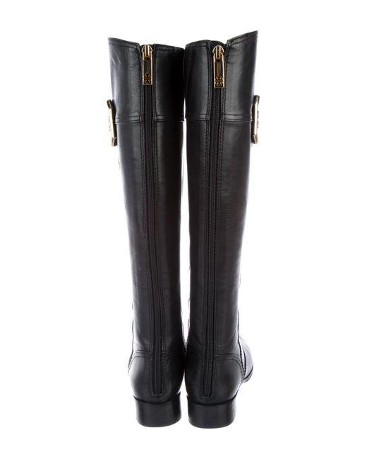 cc2044ea1 ... Tory Burch - Metallic Lawrie Knee-high Riding Boots Black - Lyst ...