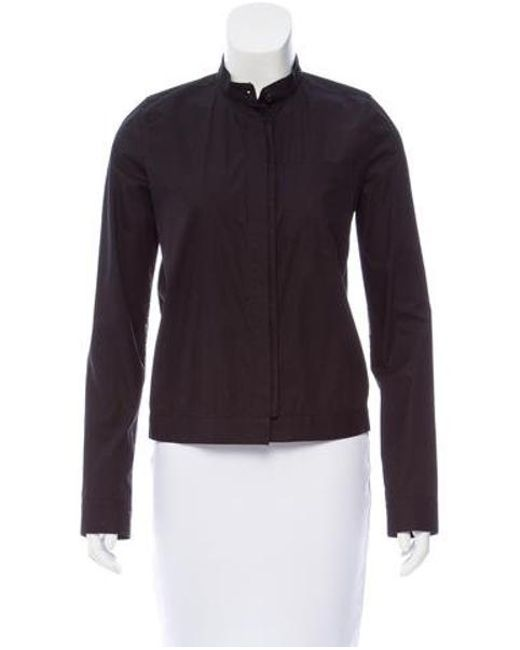 Reed Krakoff - Black Long Sleeve Button-up Top - Lyst
