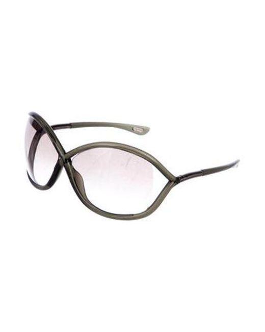 5166013449f ... Tom Ford - Metallic Whitney Oversize Sunglasses Silver - Lyst ...