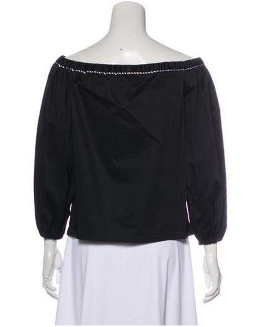 0f2906c10881d ... Alexis - Black Long Sleeve Off-the-shoulder Top W  Tags - Lyst