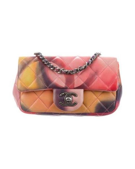 cf7914e8a9b8 Chanel Pink Mini Flower Power Extra Flap Bag Lyst. Lyst Chanel Mini Flower  Power Extra Flap Bag In Pink