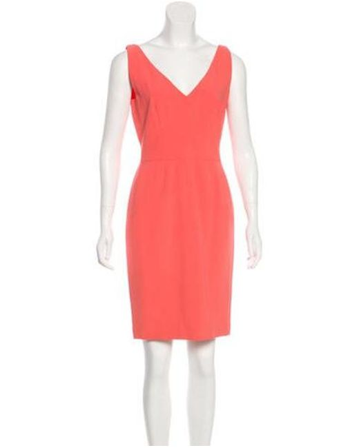 991b2827089 Narciso Rodriguez - Pink Sleeveless Knee-length Dress Coral - Lyst ...