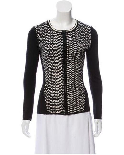 eba169202d Narciso Rodriguez - Black Zip-up Wool Sweater - Lyst ...