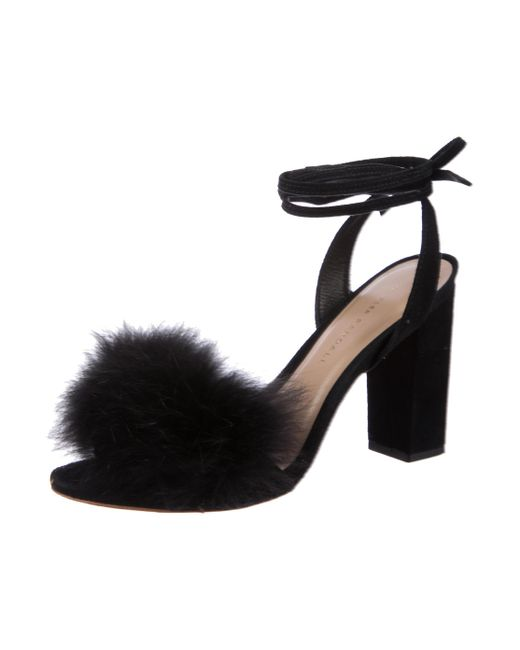 outlet real free shipping fashion Style Loeffler Randall Fur Wrap-Around Sandals oNg6zKNnkr