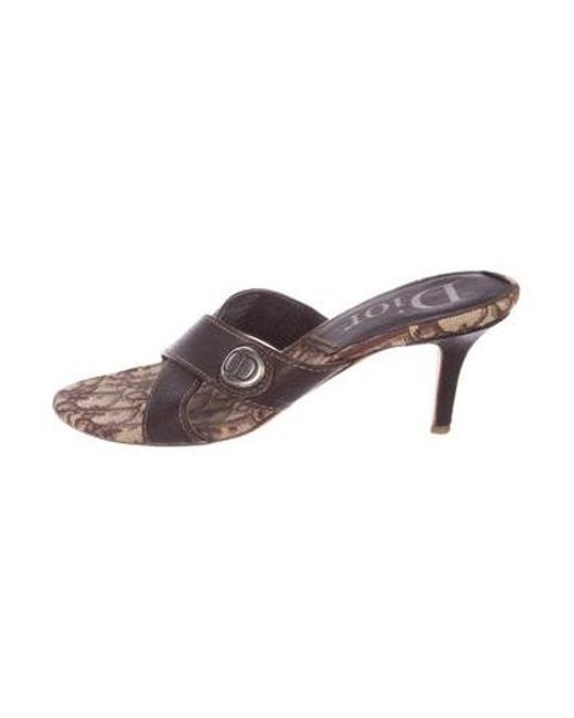 79924e98038 Dior - Metallic Diorissmo Round-toe Sandals Brown - Lyst ...