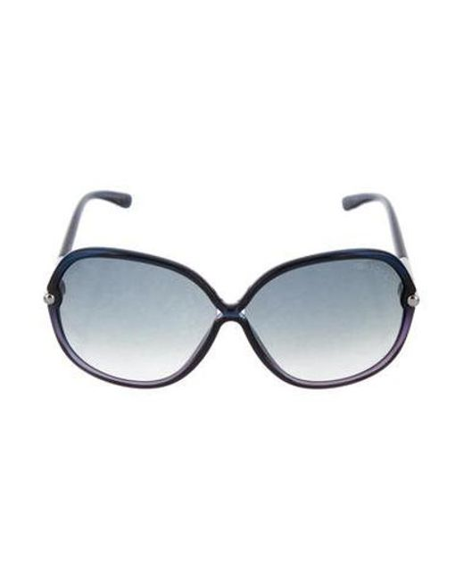 a7e1acf573 Tom Ford - Metallic Islay Oversize Sunglasses W  Tags Navy - Lyst ...