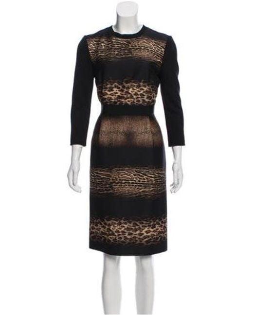 11162054d3 Giambattista Valli - Black Printed Sheath Dress - Lyst ...