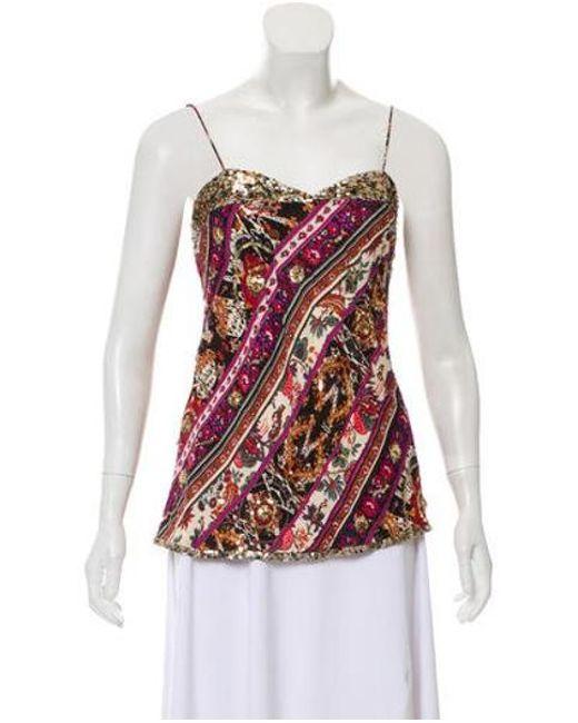f259b3244cec0 Diane von Furstenberg - Purple Natalya Silk Top - Lyst ...