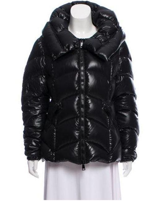 f89e022bf Lyst - Moncler Hooded Down Jacket Black in Natural