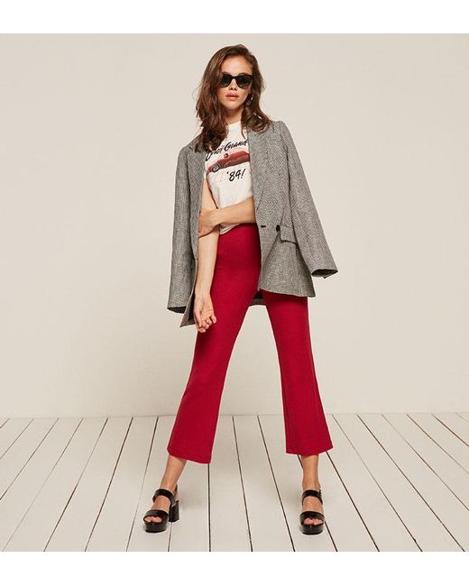 Reformation   Red Joss Pant   Lyst