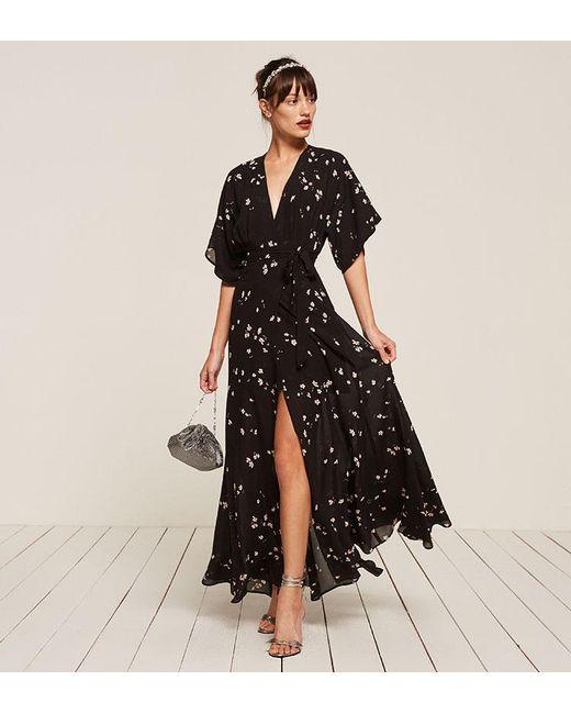 Reformation | Black Winslow Dress | Lyst