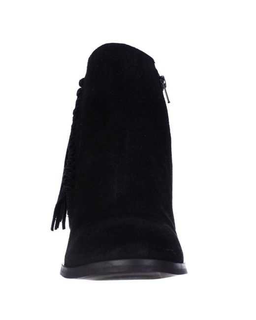 1f140f7f6e0c6 ... Kenneth Cole - Black Reaction Rotini Side Fringe Ankle Boots - Lyst ...