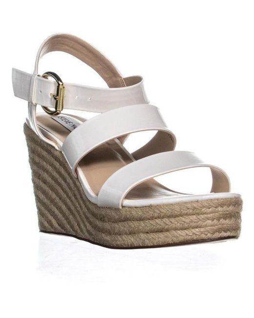176b0194c71a Lyst - Steve Madden Valery Platform Wedge Sandals in White - Save 13%