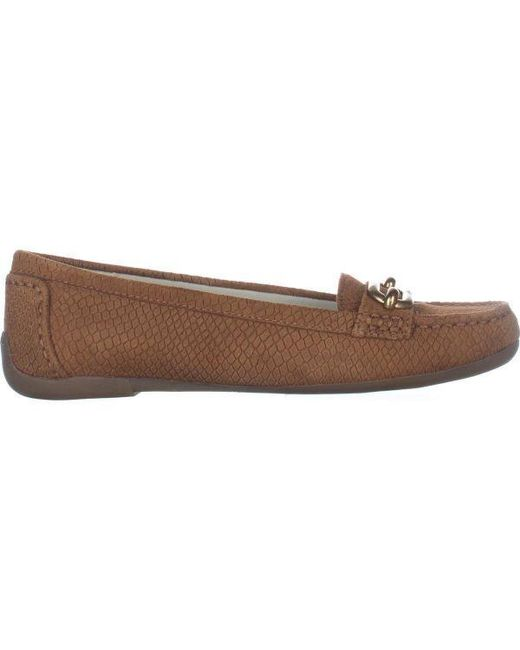 Lyst Anne Klein Noris Penny Loafer Flats In Brown Save