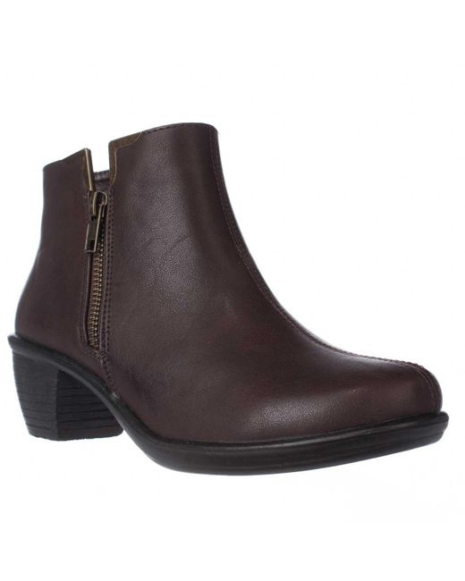 Easy Street | Brown Clear Ankle Booties | Lyst