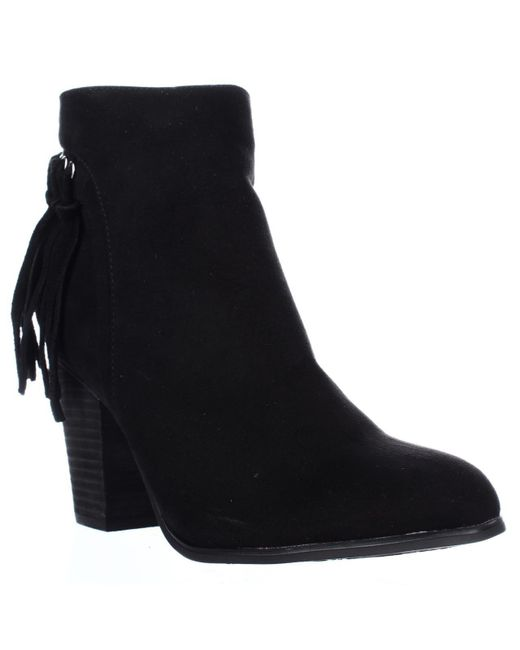 Carlos By Carlos Santana | Black Twilight Fringe Ankle Boots | Lyst