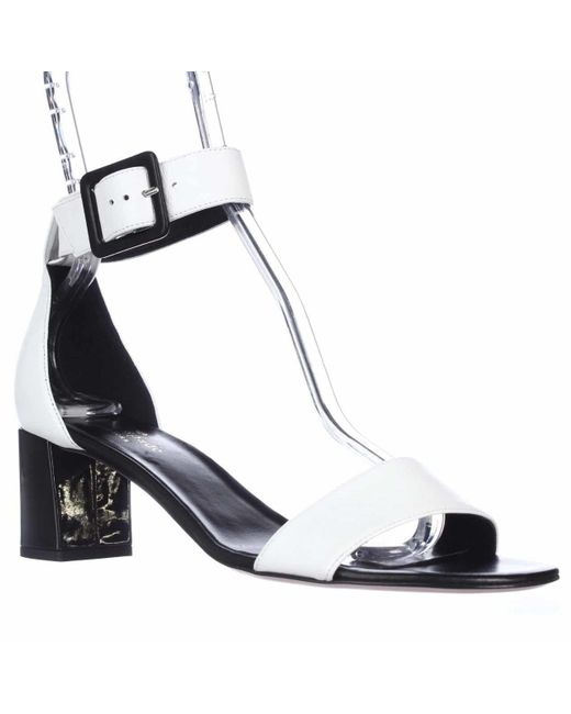 Kate Spade | White Kate Spade Melina Ankle Strap Sandals | Lyst