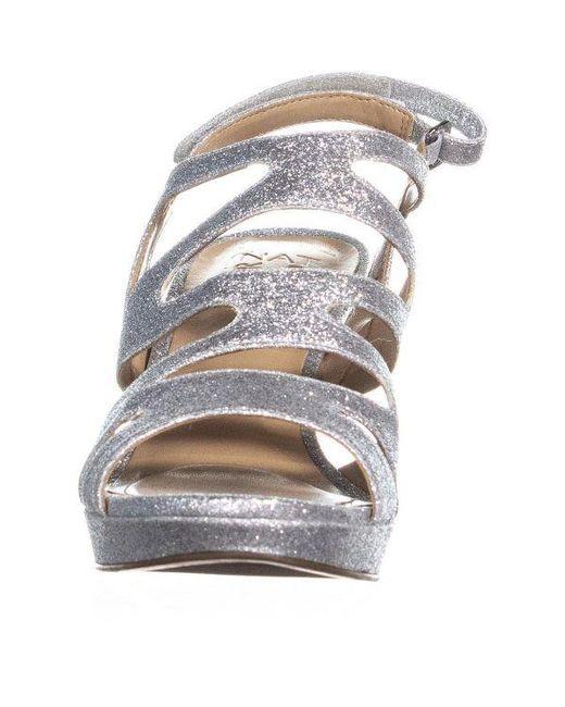 fbedf78dc7f0 ... Naturalizer - Metallic Pressley Platform Strappy Dress Sandals - Lyst  ...
