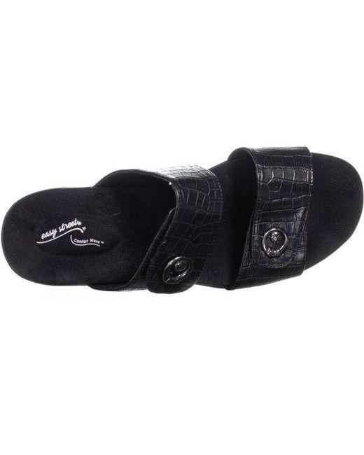ce50ab04fd1b ... Easy Street - Black Dory Slide On Sandals - Lyst ...