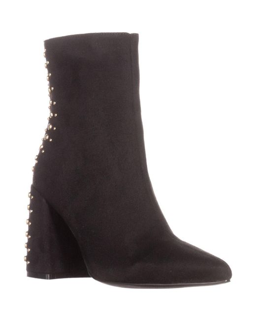 Kensie - Black Tadyn Studded Ankle Boots - Lyst