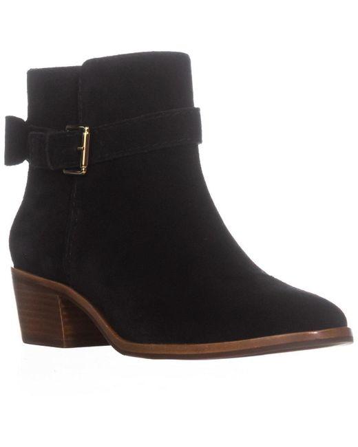 Kate Spade - Black Kate Spade Taley Block Heel Buckle Ankle Boots - Lyst
