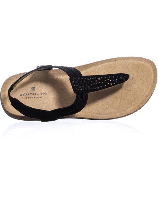 f7e00819ab6dbf ... Bandolino - Black Honour Rhinestone Slip On Sandals - Lyst ...