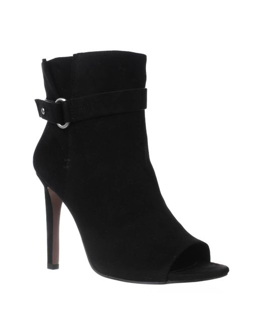 BCBGeneration | Black Cassia Stiletto Open Toe Booties | Lyst