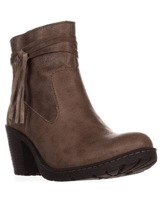 Born - Brown Alicudi Tassel Lug Sole Ankle Boots - Lyst