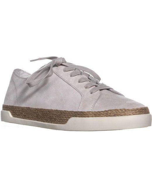 2af037c8f0c Vince - White Jadon Lace Up Espadrilles Low Top Sneakers - Lyst ...