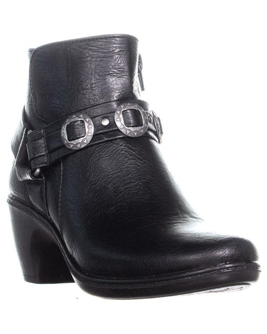 282785dd8e01 Lyst - Easy Street Bailey Booties in Black - Save 34%