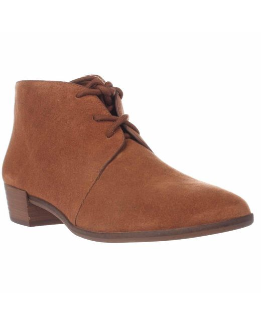Michael Kors | Brown Michael Pierce Lace Up Ankle Booties - Luggage | Lyst