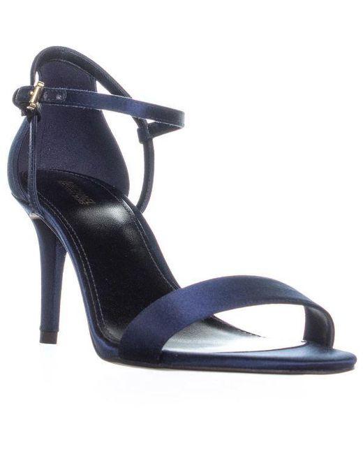 6fb4b80d3080 Michael Kors - Blue Michael Simone Mid Sandal Ankle Strap Sandals - Lyst ...
