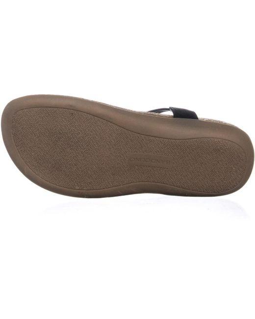 615abe97d55d1b ... Bandolino - Black Honour Rhinestone Slip On Sandals - Lyst