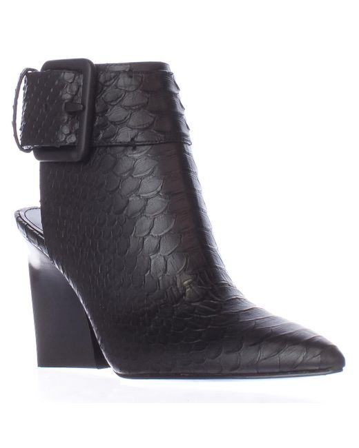 Sigerson Morrison | Ice2 Pointed Toe Aklne Strap Boots - Nero/black | Lyst