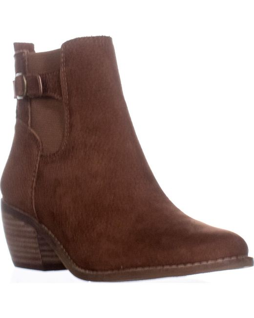 Lucky Brand - Brown Khoraa Block-heel Ankle Boots - Lyst