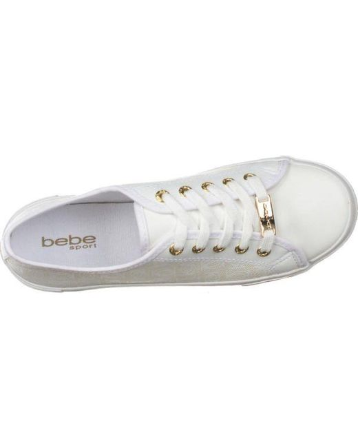 ee17906fb23 ... Bebe - White Sport Dane Lace Up Fashion Sneakers - Lyst ...