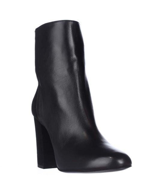 Delman   Black Nyla Leather Ankle Boots   Lyst