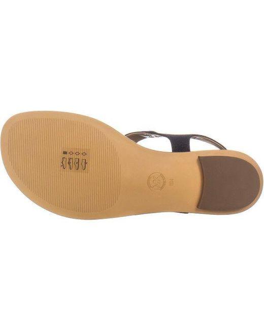 53ca03737d206 ... Michael Kors - Blue Plate Thong Logo Thong Flat Sandals - Lyst
