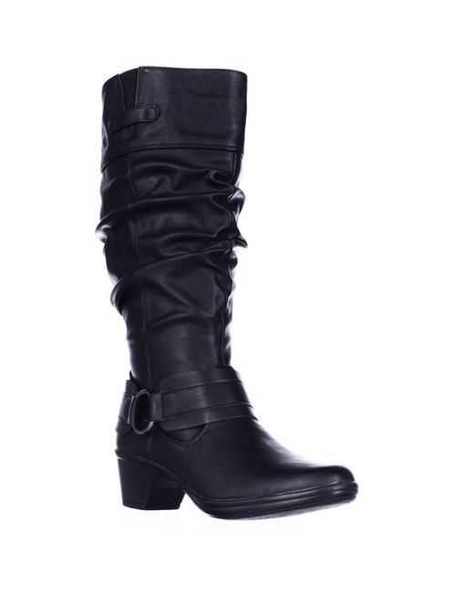 Easy Street | Black Jayda Wide Calf Slouch Boots | Lyst
