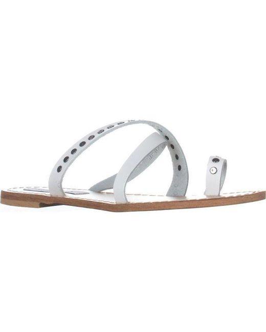 Steve Madden - White Becky Flat Toe Ring Sandals - Lyst