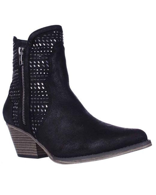 MIA | Black Joaquin Jewel Studded Western Ankle Booties | Lyst