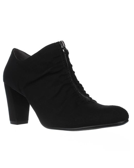 Aerosoles - Black Fortunate Front Zip Scrunch Ankle Boots - Lyst