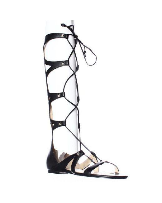 3f059b380aa2 Ivanka Trump - Black Camila Knee High Lace Up Gladiator Sandals - Lyst ...
