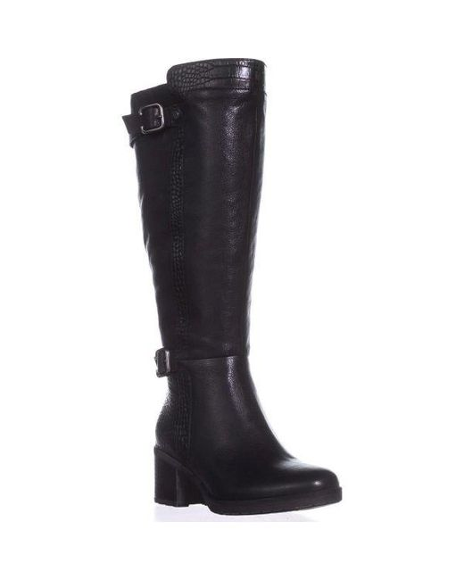 Naturalizer - Rozene Wide Calf Riding Boots, Black - Lyst