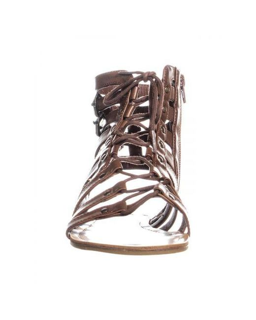 32771a63b255 Lyst - Guess G By Holmes Strappy Gladiator Sandals in Brown - Save 12.5%
