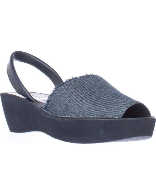 Kenneth Cole   Blue Reaction Fine Glass Perforated Wedge Sandals   Lyst