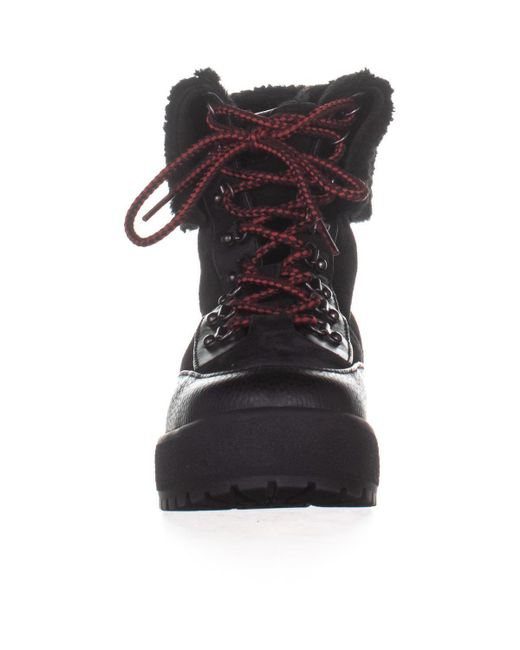 638e625488bae ... COACH - Black Tyler Sheer Lace-up Winter Boots - Lyst ...