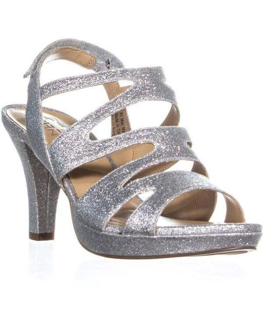 bcb1f58829db Naturalizer - Metallic Pressley Platform Strappy Dress Sandals - Lyst ...